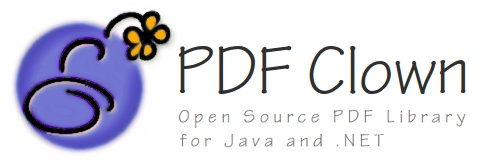 PDF Clown -- Open Source PDF Library for Java and .NET